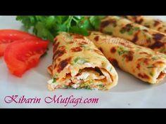 Kahvaltılık börek tadında krep tarifi - Sebzeli kolay krep nasıl yapılır - Börek tarifleri - YouTube