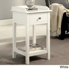 Furniture of America Viola Country Style Accent Side Table with Storage Drawer | Overstock.com Shopping - Great Deals on Coffee, Sofa & End Tables