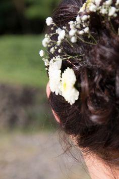 #Brautfrisur #hair #flowers #Braut #Bride