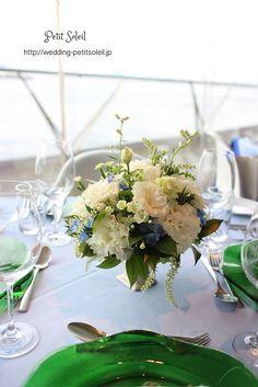 ゲストテーブル装花 卓上花 レストランウェディング
