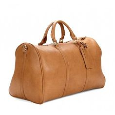 Camel leather duffle