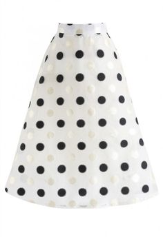 Merry Dots Texture Organza Midi Skirt - NEW ARRIVALS - Retro, Indie and Unique Fashion
