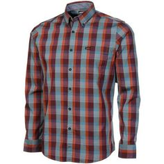 RVCA Mingus Long Sleeve Button-Down Shirt - Purple