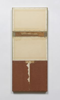 John Fraser Red Earth 2010 Acrylic and M/M Collage on Wood Panel Construction 23 1/4 x 9 3/4 x 1 3/8 via artist