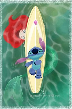 Little Mermaid and Stitch crossover :)