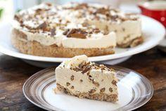 Daimkake med kaffesmak Krispie Treats, Rice Krispies, Frisk, Tiramisu, Cheesecake, Food And Drink, Pudding, Sweets, Baking