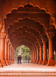 Mughal arches of the Red Fort in Delhi, India (by T P M).