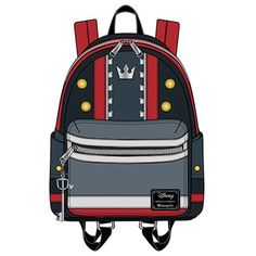 Loungefly Kingdom Hearts 3 Sora Mini Backpack & Wallet to release December 2018 - News - Kingdom Hearts Insider Kingdom Hearts Collection, Kingdom Hearts 3, Kawaii Bags, Disney Headbands, Gym Motivation Quotes, Textiles, Disney Outfits, Mini Backpack, Happy Girls