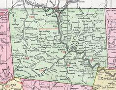 Bradford County Pennsylvania 1911 Map Towanda Sayre Troy