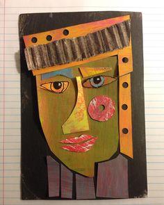 Pieced repainted paper and deconstructed cardboard. www.marytchamberlain.etsy.com #verymarydesigns #funart #portraitart #artoftheday #bigmoment #collageart #recycledart #recycled #upcycled #madeinutica #artworks #artforall #instapainting #quilting #artistsofinstagram #ideas #designed #creativelife #etsysellersofinstagram #etsyfinds #etsyhunter #etsysellers #shopetsy #originalart #artshare #faceart #sun #artwalk   via Instagram https://www.instagram.com/p/BNEcCSkBBCQ/  #artistsoninstagram…