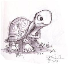 drawings of cute animals | The Ol' Sketchbook: Cute Turtle