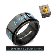 Star Wars A Long Time Ago Spinner Ring - Body Vibe - Star Wars - Jewelry at Entertainment Earth