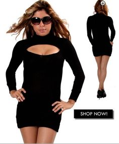 Sexy long sleeve dress. Perfect for a night out. Materials: 95% Rayon and 5% Spandex. Made in USA.$45.00