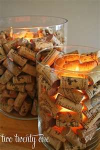 Cork Candle decorations