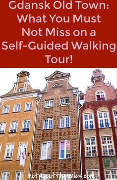 Read my post to discover what you must not miss on a self-guided walking tour of Old Town Gdansk in Poland! The treasures of Dlugi Targ, storied Mariacka Street, the pretty riverfront...so much awaits you in this beautiful old town! #architecture #gdansk #poland #dlugitarg #photography #prettyfacades
