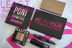 least recommended contour procucts