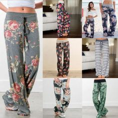 6cb0c3e94f Womens High Waist Wide Leg Casual Pants Long Loose Harem Trouser Panta –  rricdress