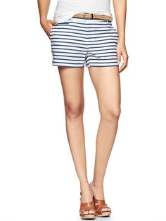 Gap Striped Welt Pocket Shorts- with a cute white or navy blue button up- perfect detain to accentuate your legs!
