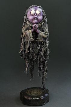 Creepy Art, Creepy Dolls, Arte Horror, Horror Art, Cartoon Monsters, Maquillage Halloween, Ouija, Clay Miniatures, Sculpture Clay