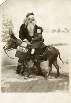 vintage father christmas looking creepy