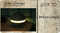 Betonlampe selber bauen   Lampe aus Beton   DIY   Kreativ-Beton   Lampe ...