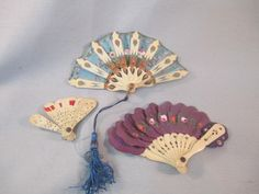 Antique French Fashion Bisque Doll Accessory Miniature *Hand Fans* Lot of 3 | Dolls & Bears, Dolls, Antique (Pre-1930) | eBay!