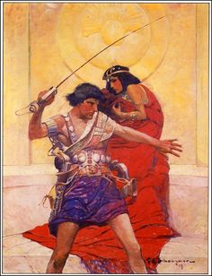 """Frank Schoonover's 1917 cover art for """"A Princess of Mars"""" by Edgar Rice Burroughs"""