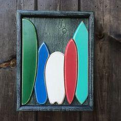 The Captain Surfs wood art.  Husband of Heather Brown.  @Monica Swanson.com
