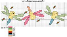 Butterfly Cross Stitch, Cross Stitch Borders, Cross Stitch Patterns, Cross Stitch For Kids, Cross Stitch Baby, Baby Embroidery, Cross Stitch Embroidery, Animal Crackers, Plastic Canvas Patterns