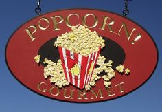 Popcorn Gourmet Sign / Danthonia Designs