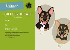 Personalized pet portraits. Gift certificate. #art #drawing @EtsyMktgTool http://etsy.me/2y9USDc #customportrait #petportrait #birthdaygift