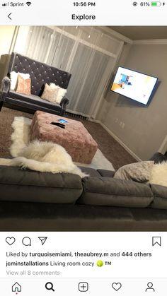 home decor diy Living Room Decor Cozy, My Living Room, Interior Design Living Room, Living Room Designs, Home Bedroom, Bedroom Decor, Bedrooms, First Apartment Decorating, Apartment Living