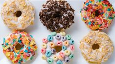Who says you can only have cereal OR a donut for breakfast? 🤔   Save the recipe for Cereal Milk Donuts 👍 Homemade Funnel Cake, Gluten Free Doughnuts, Doughnut Pan, Doughnut Holes, B Recipe, Cereal Milk, Box Cake Mix, Yellow Cake Mixes, Baked Pumpkin