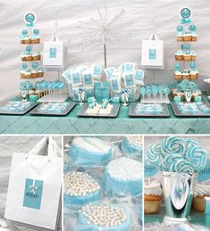 Our chocolate covered oreos - Tiffany Inspired Table - Soiree Event Design