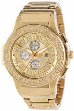"JBW Men's JB-6101-D ""Saxon"" Gold Diamond Watch"