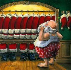 What coat will Santa pick? So many options