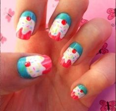 Get this yummy look with our Migi Nail Art pens!!