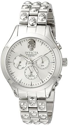 Invicta Womens 16895 Angel Analog Display Swiss Quartz Silver Watch -- Check this awesome product by going to the link at the image.