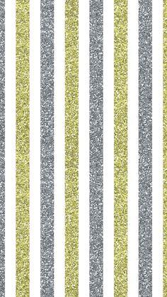Silver gold glitter stripes iphone wallpaper phone background lockscreen