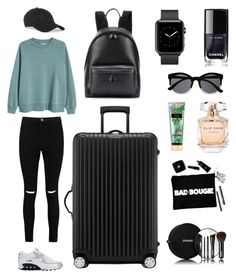 Airport Look😎✈️ by adaelbakianjune on Polyvore featuring polyvore, fashion, style, H&M, Boohoo, NIKE, Rimowa, Balenciaga, Witchery, rag & bone, Elie Saab, Victoria's Secret, Chanel and clothing