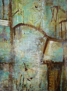 Beautiful blues by Chery Baird Various prices #abstract #art #blues www.emergingartscene.com