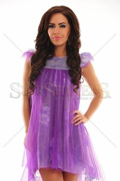 Alluring Haze Purple Dress