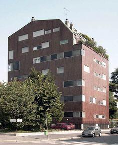 Residential building in Piazza Carbonari, Luigi Caccia Dominioni, Milan, 1960-61