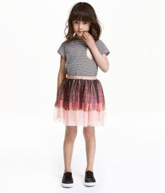 1 Month-3 Years La Redoute Collections Big Girls Glossy Striped Skirt