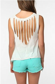 cut up t-shirt, kinda looks like wings http://pinterest.com/deborah2055/many-t-shirt-craftsi-love/