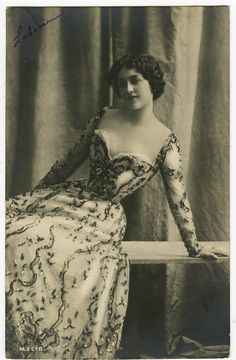 Circa 1902 French Theater Lina Cavalieri Opera Singer Music Hall Photo Postcard | eBay