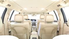 Luxury interior of a minivan? No, it's a modified Mercedes-Benz E-Class limo with six doors, from BINZ.