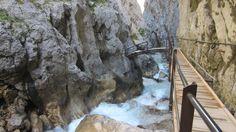 Über eine kleine Brücke überquert man den Hammersbach. Danach führt ein Steg weiter zum Höllental