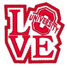 LOVE Oklahoma University Feltie Embroidery for by EmbellishStar, $3.00