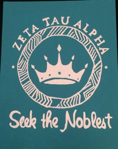 Zeta Tau Alpha Custom Canvases by JoseCrafto on Etsy